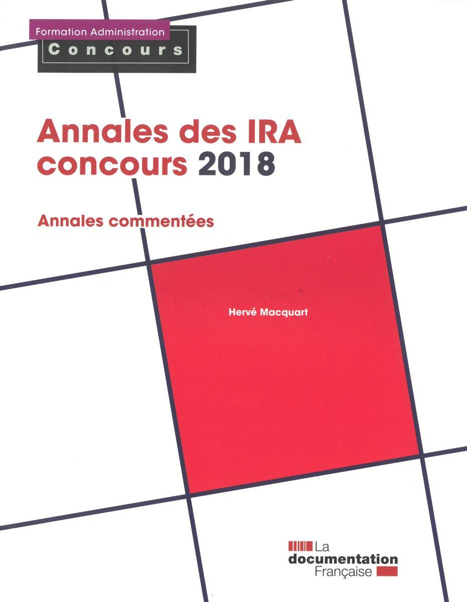 Annales des IRA - Concours 2018 - Formation Administration Concours