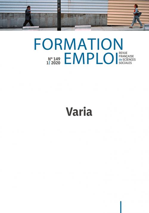 Varia - Formation emploi n°149