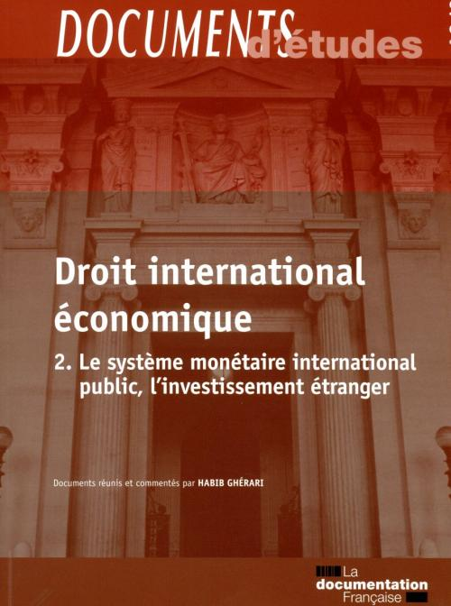 Documents d'études 3.12 - Droit international économique